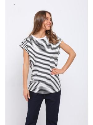 Black Short Sleeve Round Neck Tops